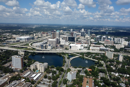 View across Orlando, Florida