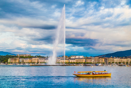 Geneva with fountain